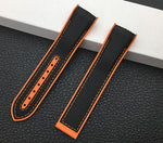 RACER Nylon Rubber 20mm 22mm Deployment Watch Band Strap for Omega Seamaster Planet Ocean