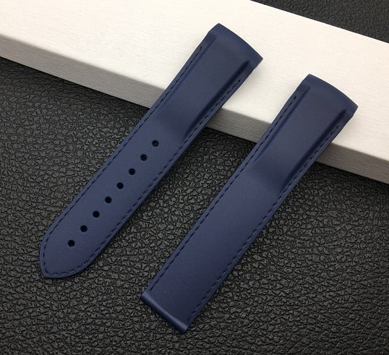 OCEAN Silicone Rubber Watch Band Strap 20mm 22mm for Omega Seamaster Planet Ocean w/Logo