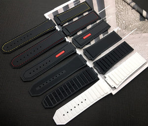 UNICO Silicone Rubber Stitched 29x19mm Watch Strap Band for Hublot King Power Series