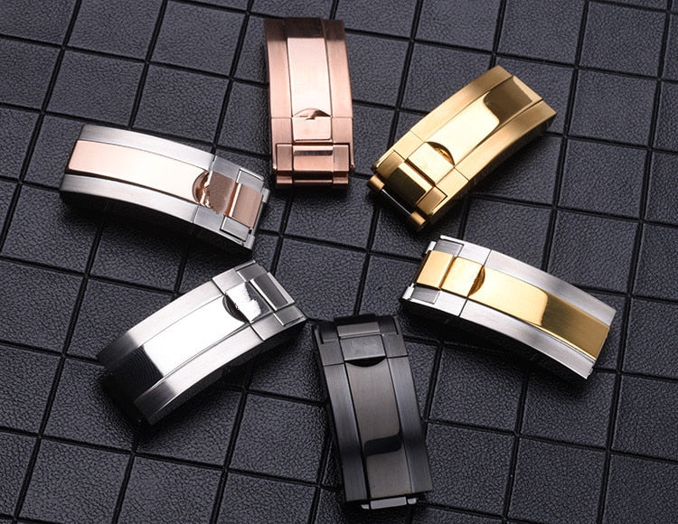 OYSTER Lock Folding Clasp Watch Buckle for Daytona Submariner Yacht Oysterflex Bracelet