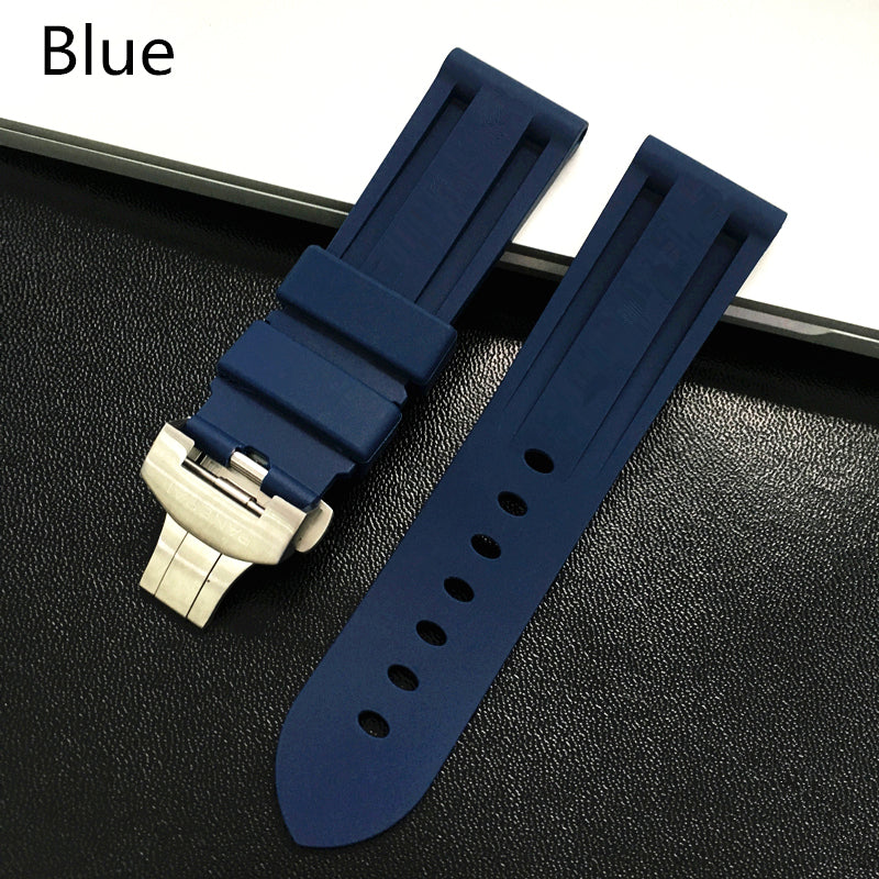 SUB-D Waterproof Rubber Watch Band Deployment Clasp for Panerai PAM 22mm 24mm