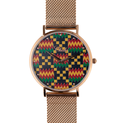 kente print watch chale
