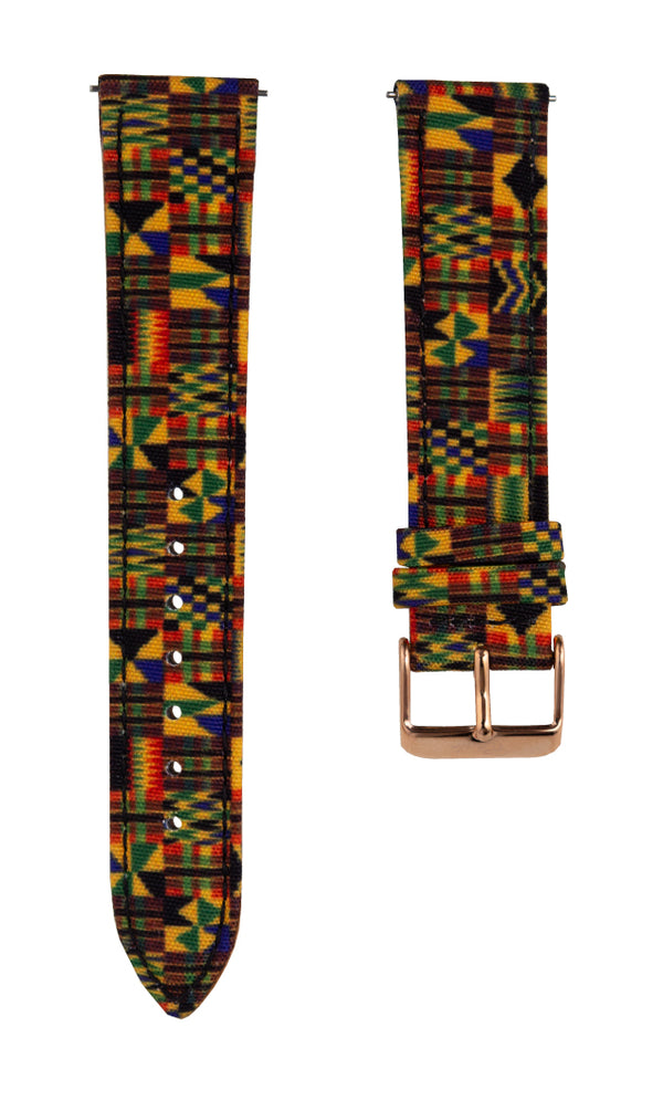 kente print interchangeable strap chale
