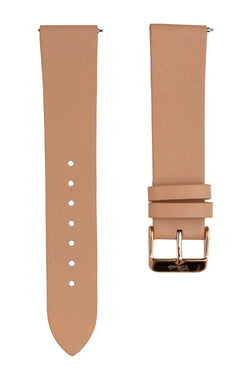 beige leather interchangeable strap chale watches