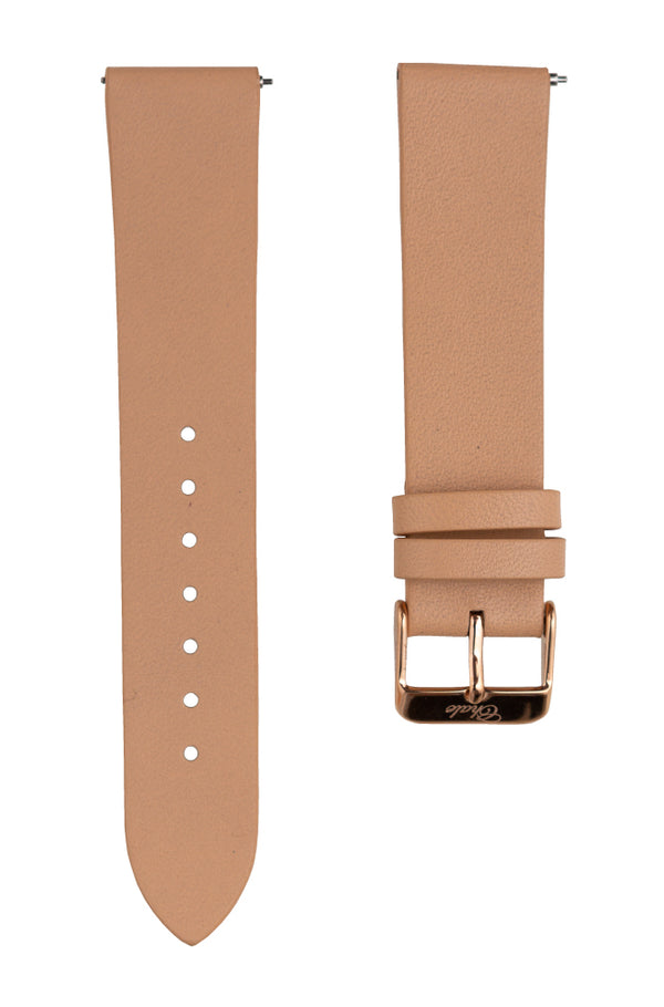 beige leather interchangeable strap
