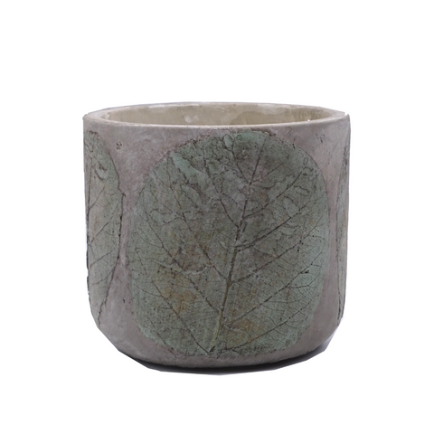 Leaf Print Pot - Pure Eco-Soy Wax 2 Wick Candle - Festive Spice