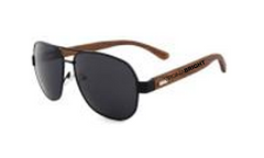 Virginia Bright Wood Sunglass Collection/ Aviator