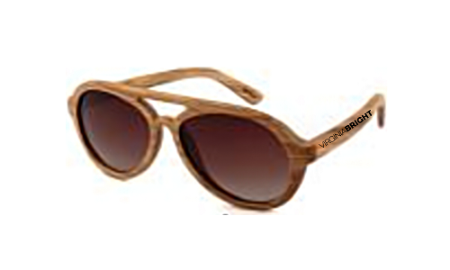 Virginia Bright Wood Sunglass Collection/ Pilot Trend