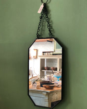 mirror black gold hangingmirror walldecor wall specchio catena nordic