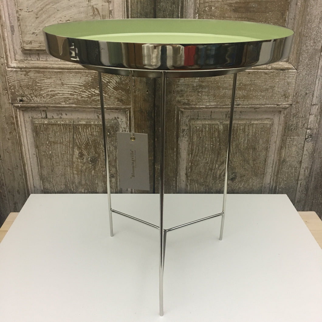 tavolino salotto side table tray green alluminio aluminium nordic