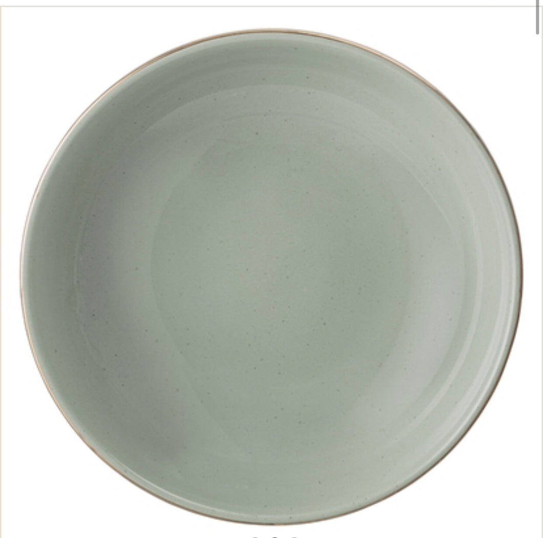spring serving bowl ceramic stoneware green piatto