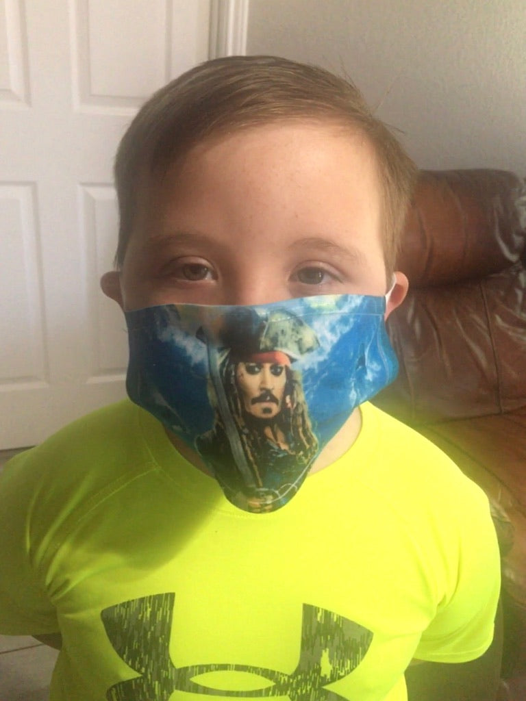 Kids Thor, Hulk, Captain Jack Sparrow mask