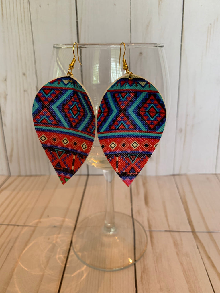 Aztec Tear Drop Earrings
