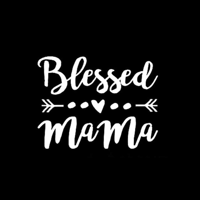 Car Stickers - Blessed Mama Arrow Vinyl Decal For Car