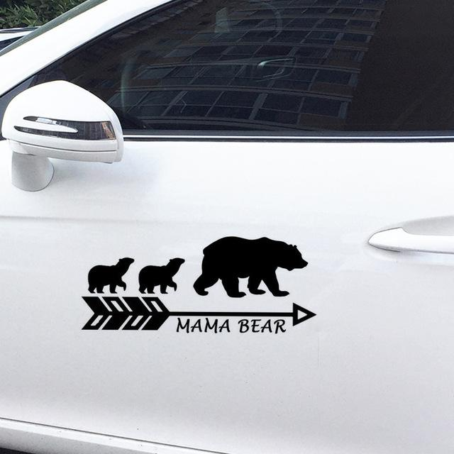 Car Stickers - MAMA BEAR Vinyl Car Sticker Decals