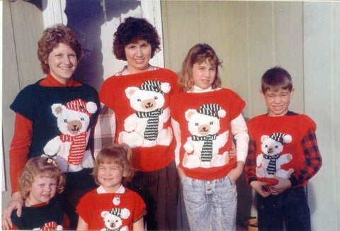 family christmas bear jumpers