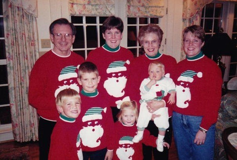 family santa christmas jumpers