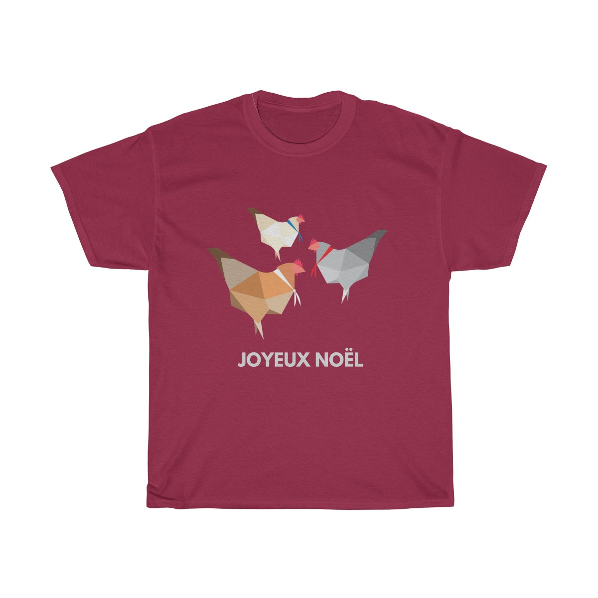 Three French Hens Christmas T-Shirt