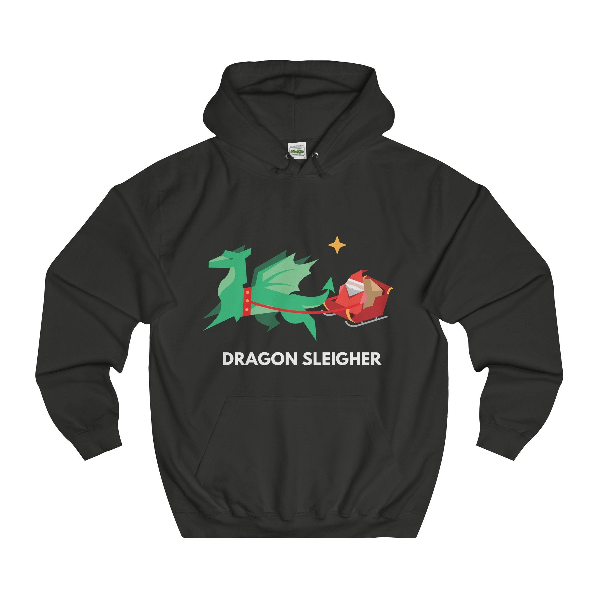 Dragon Sleigher Christmas Hoodie-Hoodie-Jolly Christmas Jumper