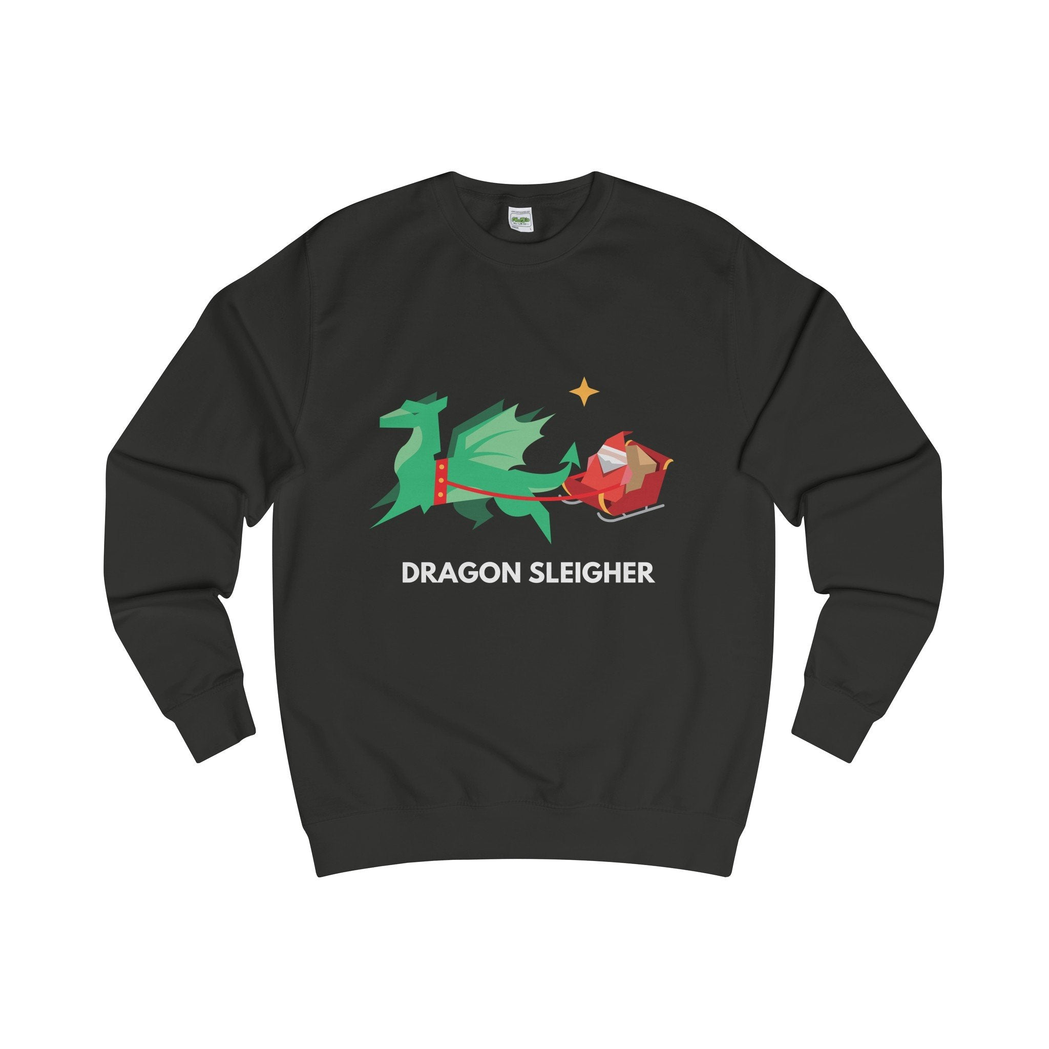 Dragon Sleigher Christmas Jumper-Sweatshirt-Jolly Christmas Jumper