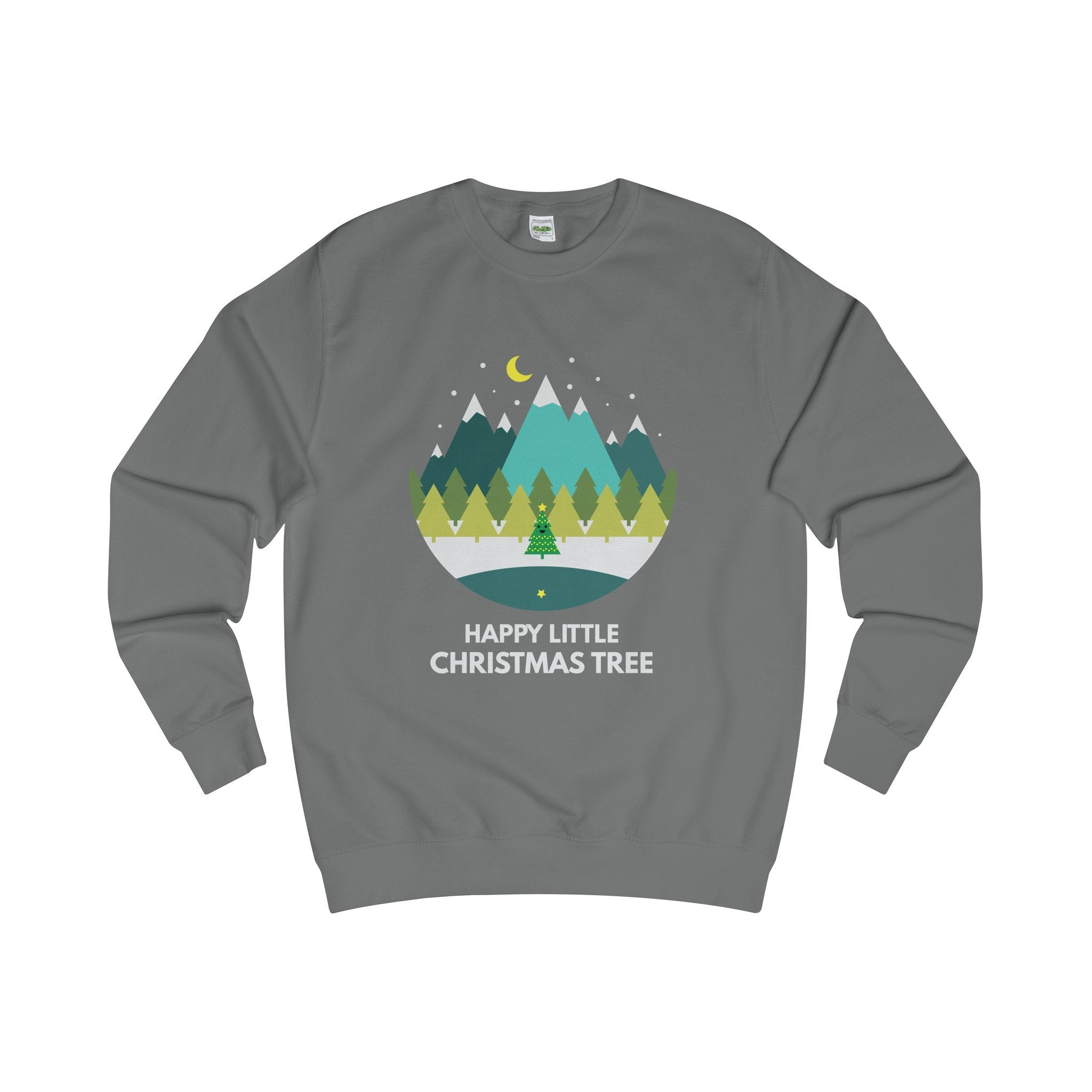 Happy Little Christmas Tree Jumper-Sweatshirt-Jolly Christmas Jumper