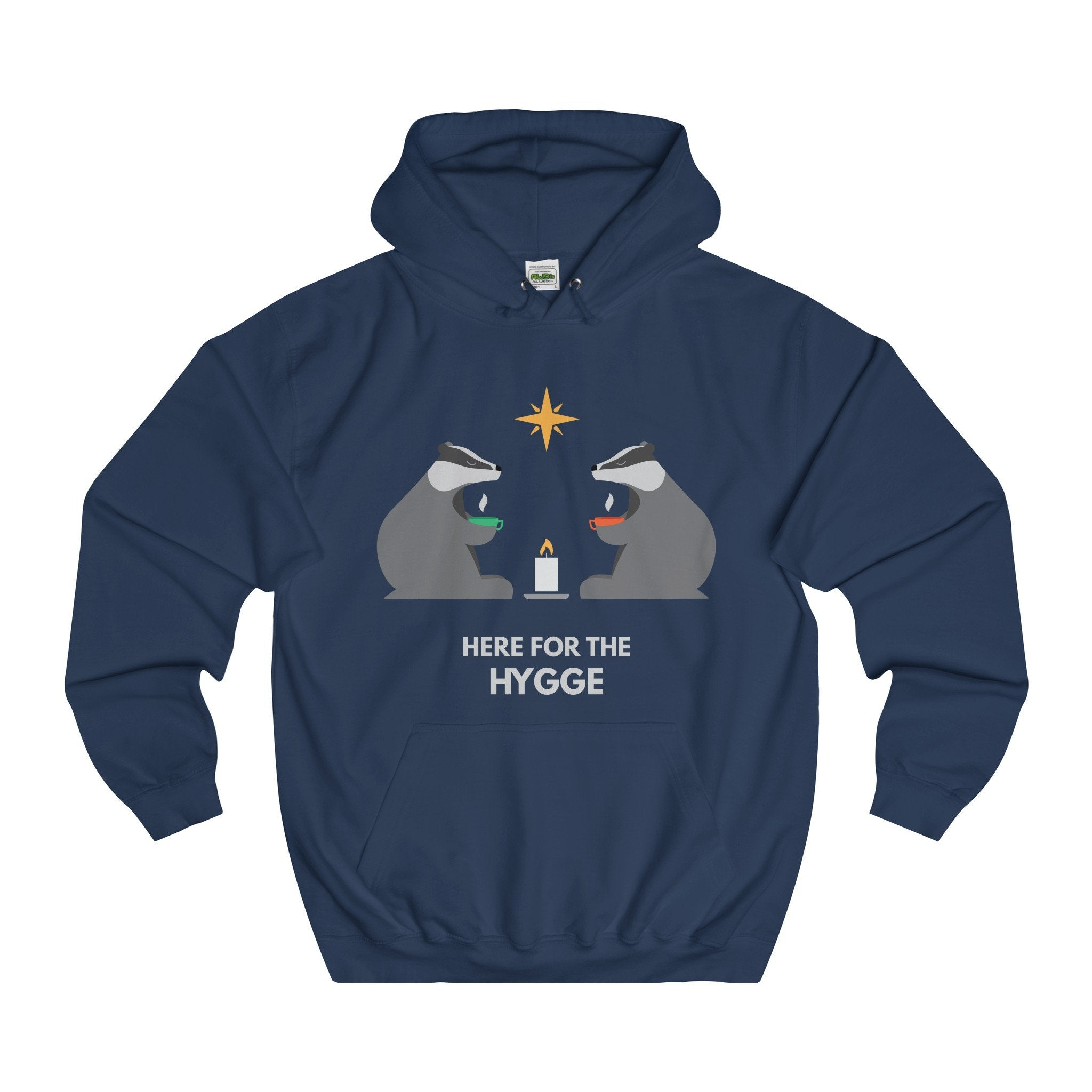 Here For The Hygge Christmas Hoodie-Hoodie-Jolly Christmas Jumper