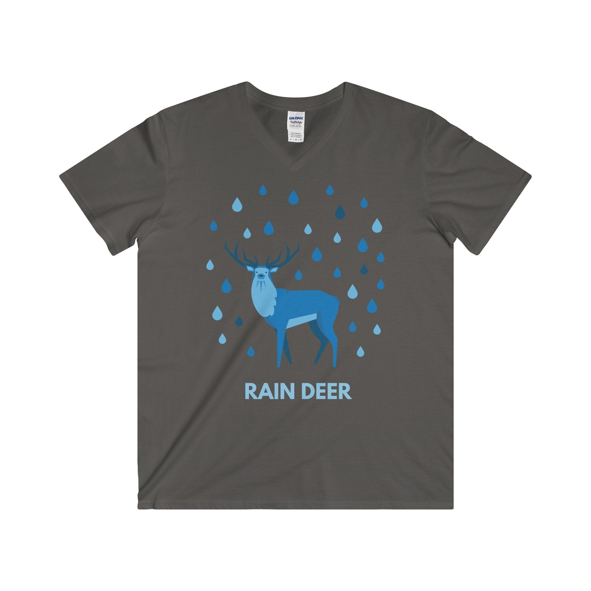 Rain Deer Christmas V-Neck T-Shirt-V-neck-Jolly Christmas Jumper