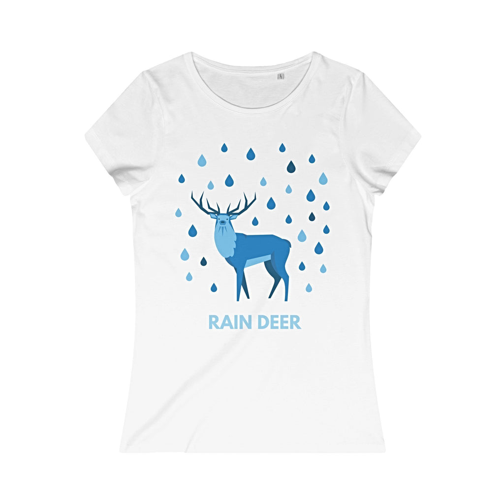 Rain Deer Organic Round Neck T-Shirt-T-Shirt-Jolly Christmas Jumper