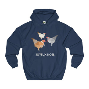 Three French Hens Christmas Hoodie-Hoodie-Jolly Christmas Jumper