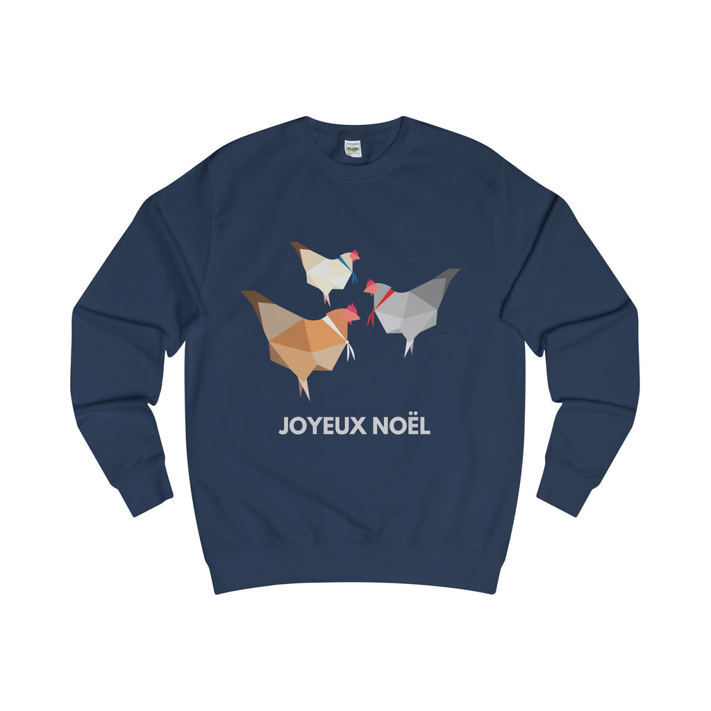 Three French Hens Christmas Jumper-Sweatshirt-Jolly Christmas Jumper