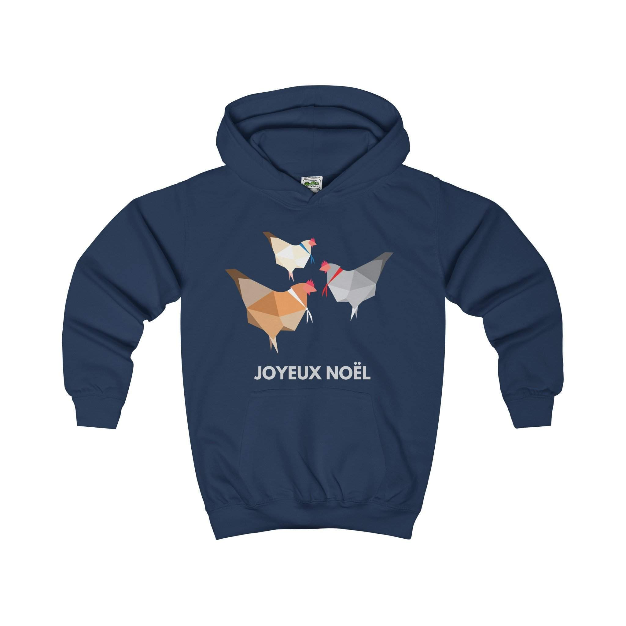 Three French Hens Kids' Christmas Hoodie-Kids clothes-Jolly Christmas Jumper