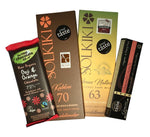 Great taste two star award winning vegan chocolate bars