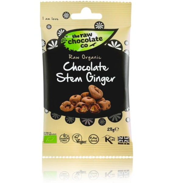 Raw Chocolate Co - Chocolate Ginger Snack Pack - 28g - VeganChocolateShop