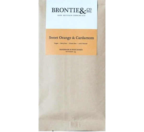 Brontie & Co - Sweet Orange and Cardamon - 30g - VeganChocolateShop