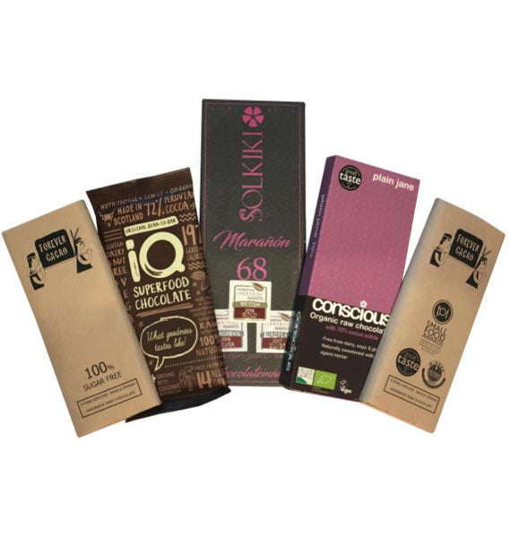 Deliciously Dark Vegan Chocolate Selection