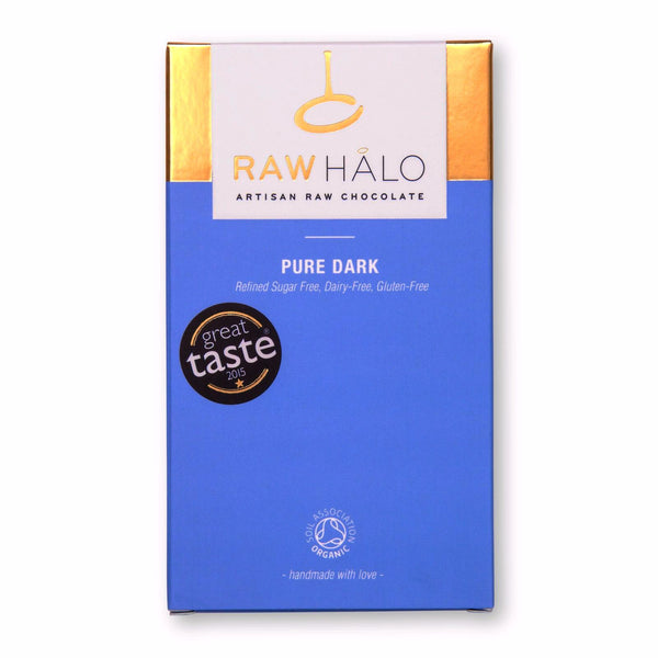 Raw Halo - Pure Dark - 35g - VeganChocolateShop