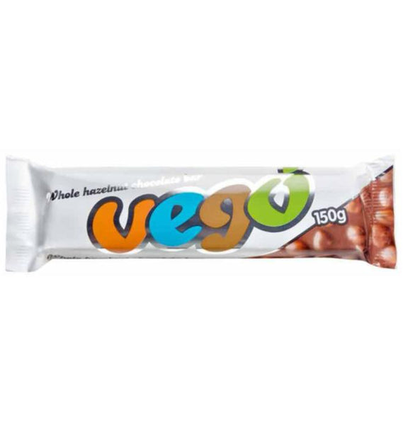 Vego - Whole Hazelnut Chocolate Bar - 150g - VeganChocolateShop