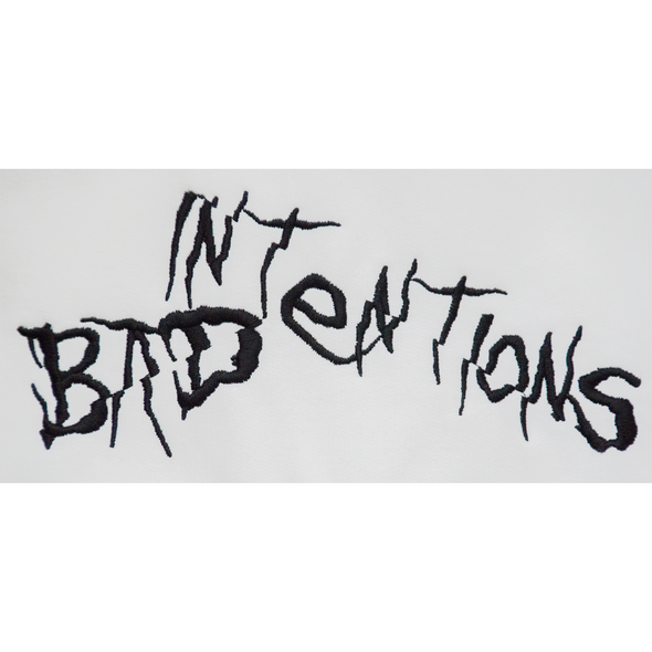 BAD INTENTIONS WHITE HOODIE V2