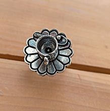 Tea cup ring- statement Ring- Indian Jewelry- silver ring- Bohemian Ethnic ring- Tribal jewelry- Gypsy ring- Blue stone ring-