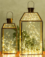 Lanterns with fairy lights inside