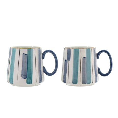 Blue Striped Mug - Pack of Two