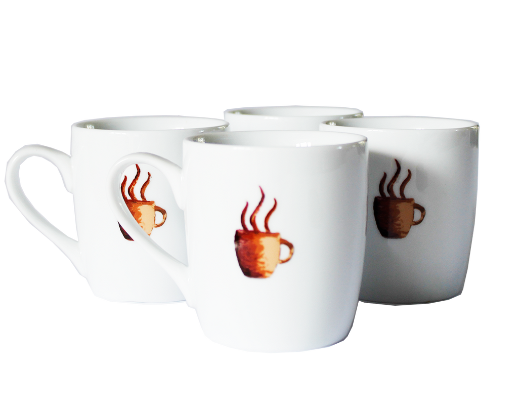 Set of Four - Coffee Mugs