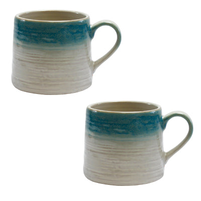 Blue Grey Mug - Pack of Two