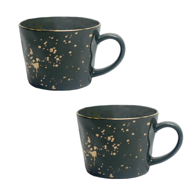 Grey Splatter Mug - Pack of Two