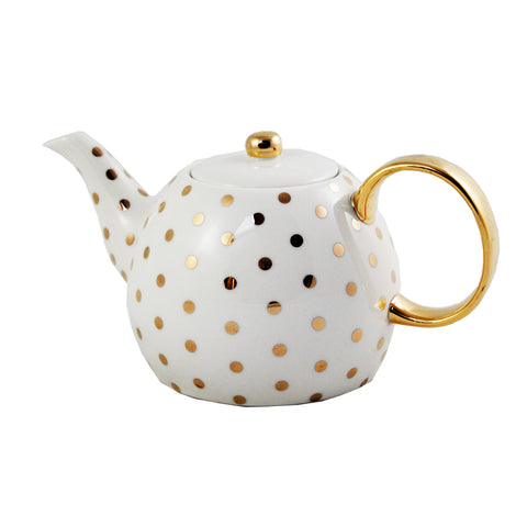 Gold Spotted Tea Pot
