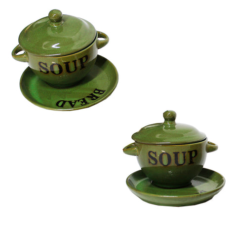 Set of Two Soup Bowls