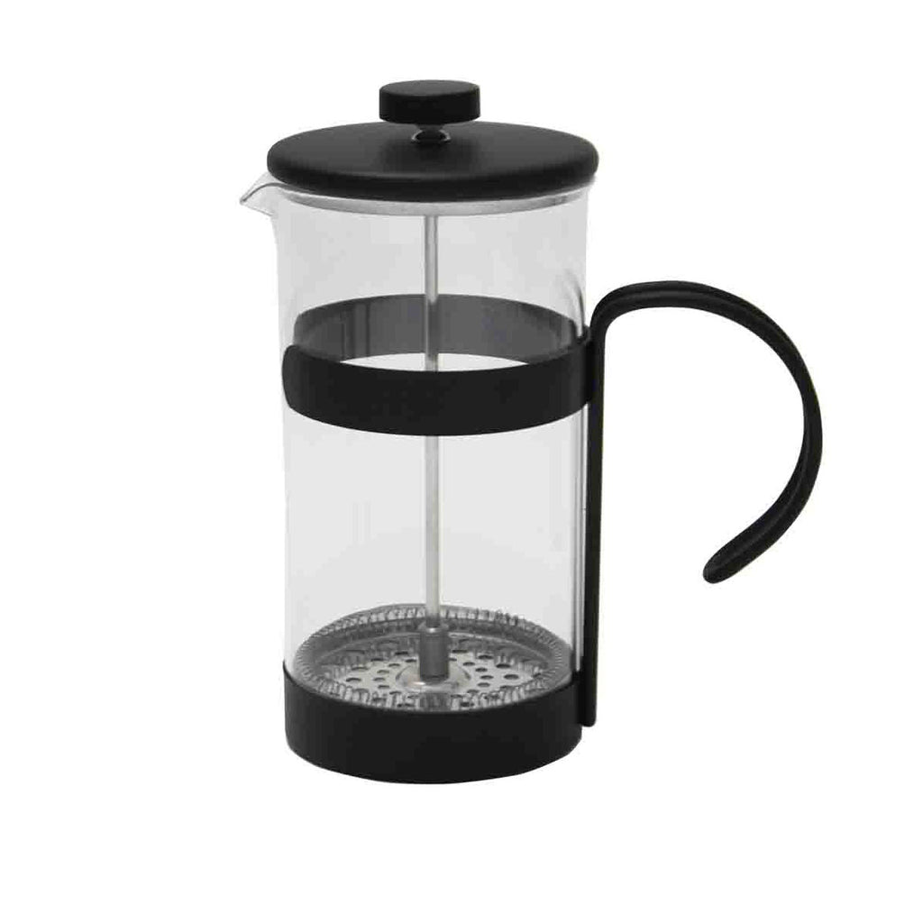 Metal and glass cafetiere from China Blue