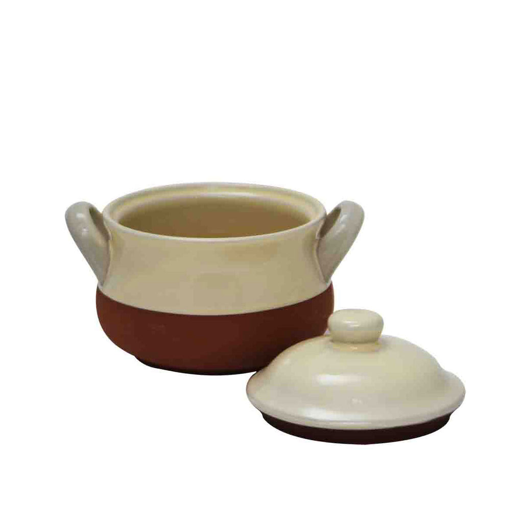 Cream Mini Terracotta Crock Pot from China Blue