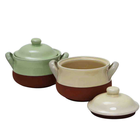 Mini Terracotta Crock Pots from China Blue
