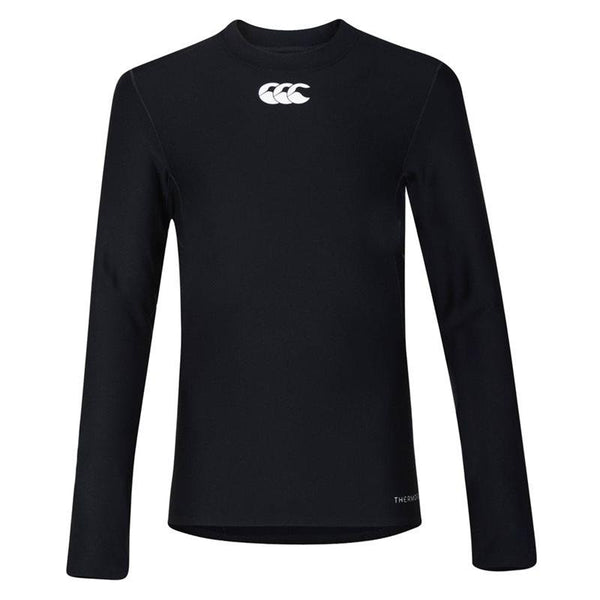 Canterbury Thermoreg Long Sleeve Kids Baselayer Top - Black